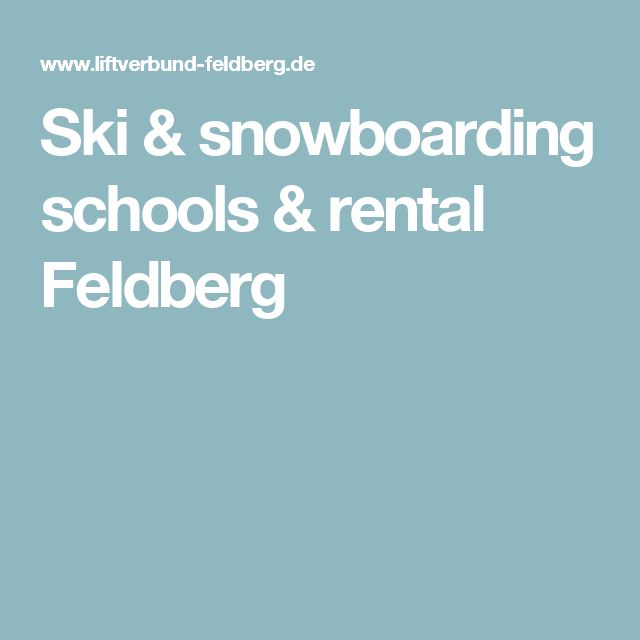 Ski & snowboarding schools & rental Feldberg