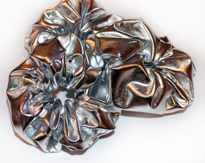 Silver Scrunchie