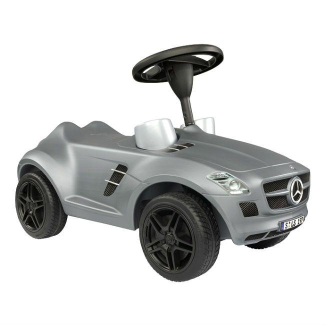 Sparkbil BIG Mercedes SLS AMG Silver Bobby Car från Etrendstore.se