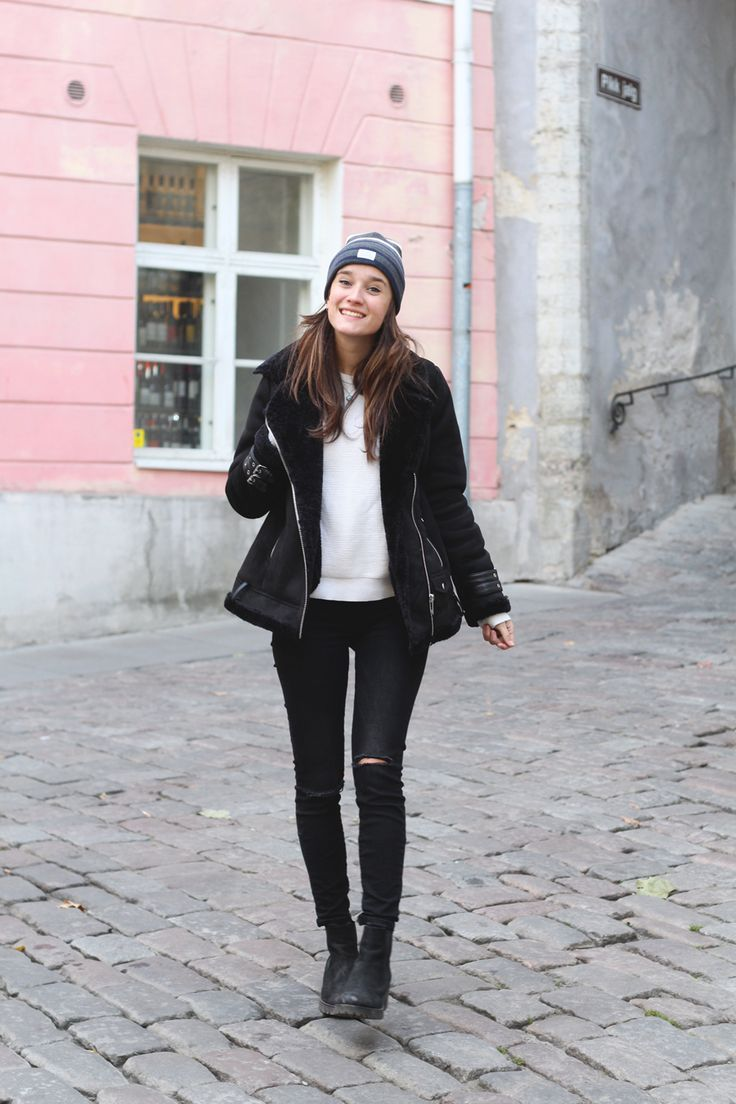Fashiable, outfit, fashion, blogger, Tallinn, Stradivarius jacket, ZARA jeans, Norse Projects beanie