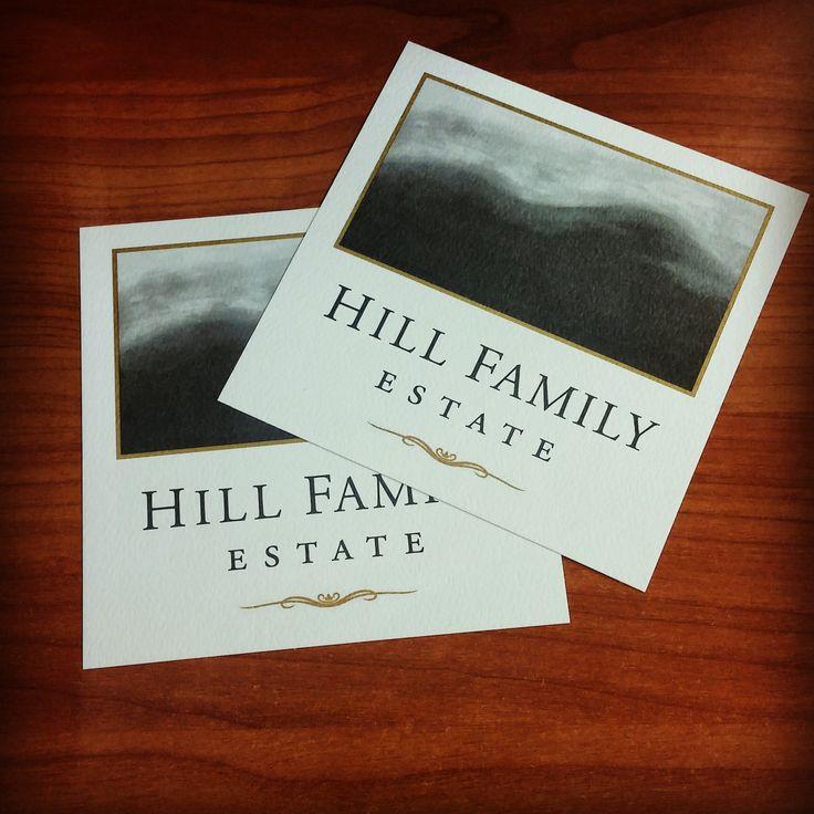 Off set printed wine tasting passes for Hill Family Estate's tasting room. #businessprinting #hillfamilyestate #winetasting