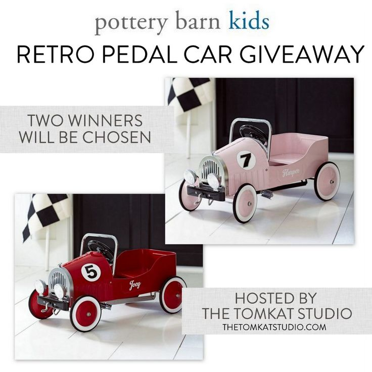 go now to enter to win a retro pedal car from pottery
