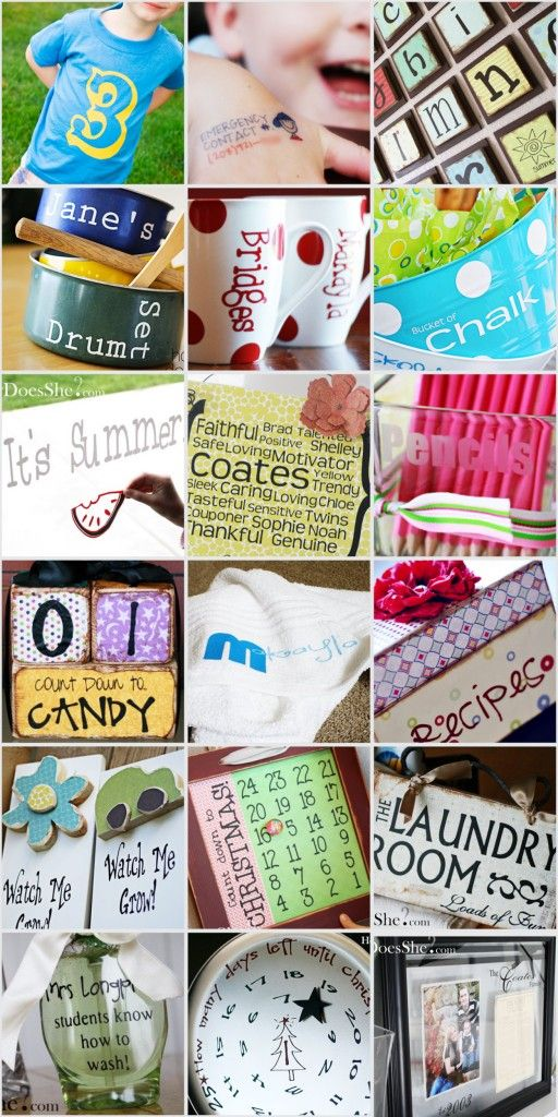 Things you can make with your cricut...