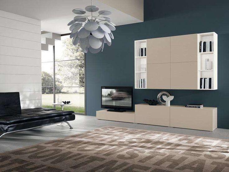 Arredare il soggiorno con il color tortora - Mobile soggiorno color tortora