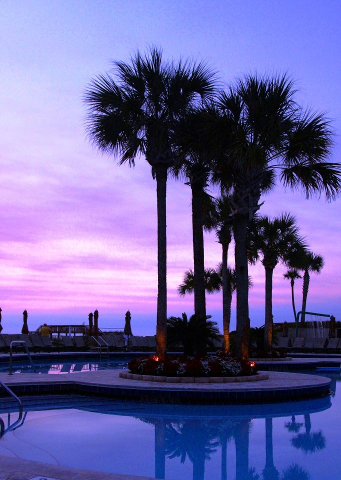 purple sunset!   The Ritz-Carlton, Amelia Island (dressy place apparentlyhahahaha)