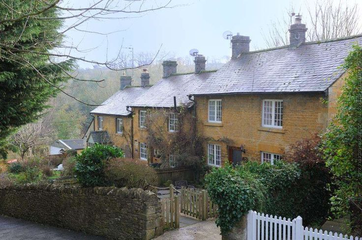 Blockley cottage rental - Jackdaw is the first in a short row of cottages, with the rolling hills beyond