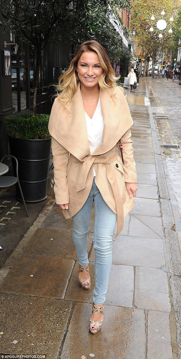 She recently confessed her dream was to be a Sports Illustrated pin-up. But Sam Faiers kept her killer body under wraps on Wednesday morning as she attended the launch of her new Lashes By Samantha false eyelash range in London. The former TOWIE babe was wearing a classy and understated winter look, cosying up in a soft camel coat as she arrived at the Covent Garden Hotel.