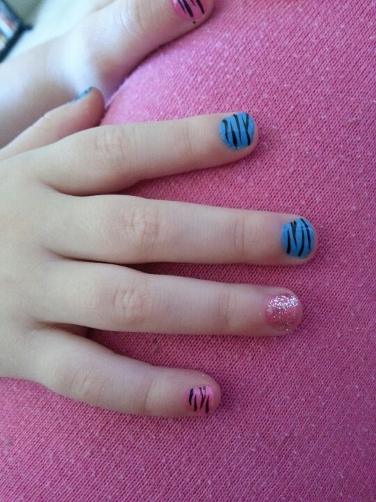 Little girl nail idea.