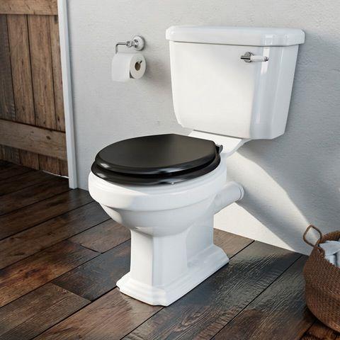 Black Wooden Soft Close Toilet Seat Soft Close Black Toilet seat