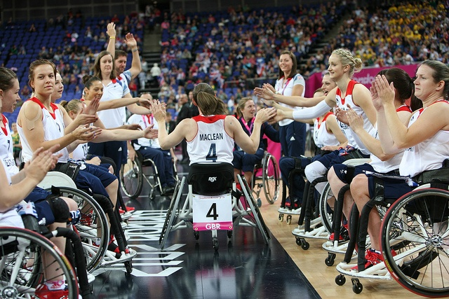 Great Britain's women's paralympic wheelchair basketball team
