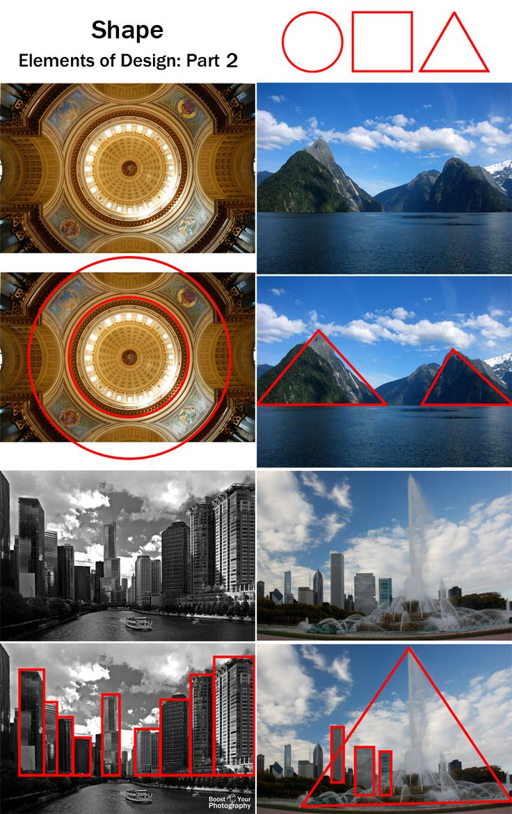 """Shape: elements of visual design, part 2   Boost Your PhotographyLearn how """"seeing"""" shapes will make a positive impact in your photography!"""