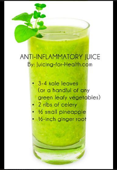 Yummy anti-inflammatory smoothy.