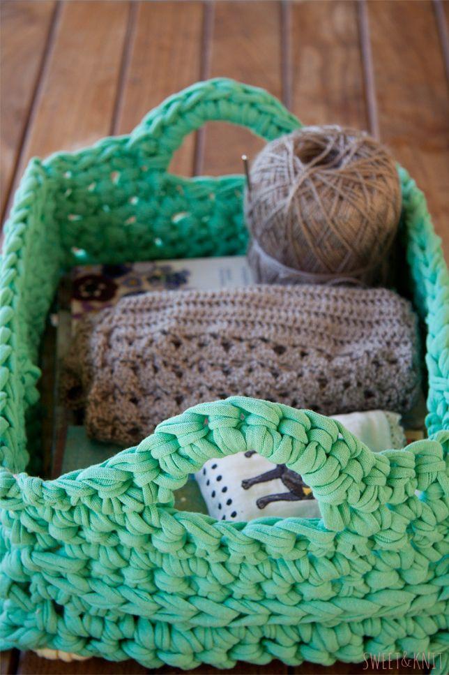 Lujoso Crochet Patrón De Cesta De Frutas Foto - Manta de Tejer ...