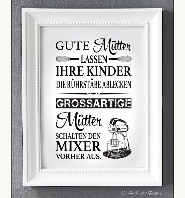 Poster mit Zitat für Muttertag / print with quote for mother's day made by ABOUKI Art Factory via DaWanda.com