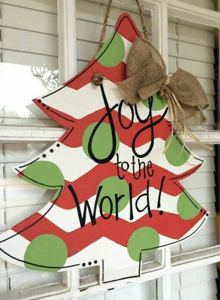 christmas tree wooden door hanger christmas tree joy to the world wooden door hanger by arhjohnston on etsy
