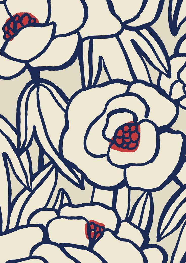 Modern floral Pattern by Minakani
