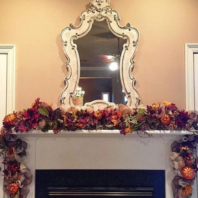 15% OFF your purchase of $75 or more! TODAY ONLY! Promo code AUG15. Measures approx 9 1/2-10 ft. Beautiful, full and rich. This garland is made up of mesh, decorative ribbon, pumpkins, floral, picks, feathers, leaves, and berries. Has various uses!