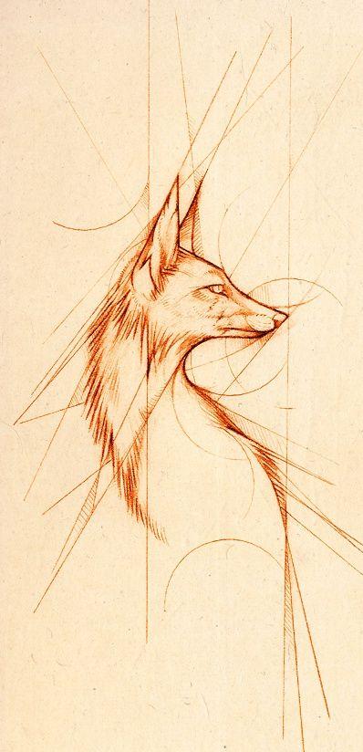 Lines by =Skia on deviantART (Again, love the fox/geometric combo!) Styles  - geometrics