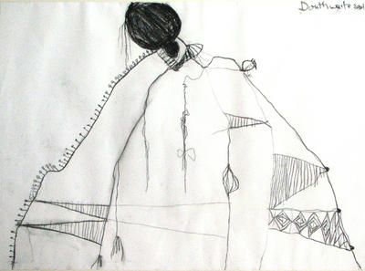 "Pat Douthwaite - ""Girl in an Exotic Dress""."