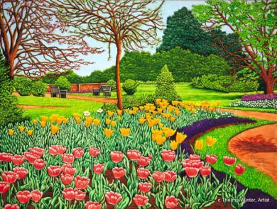 Longwood garden pic winter gallery artist thelma winter tulips at longwood gardens v for Longwood gardens longwood road kennett square pa