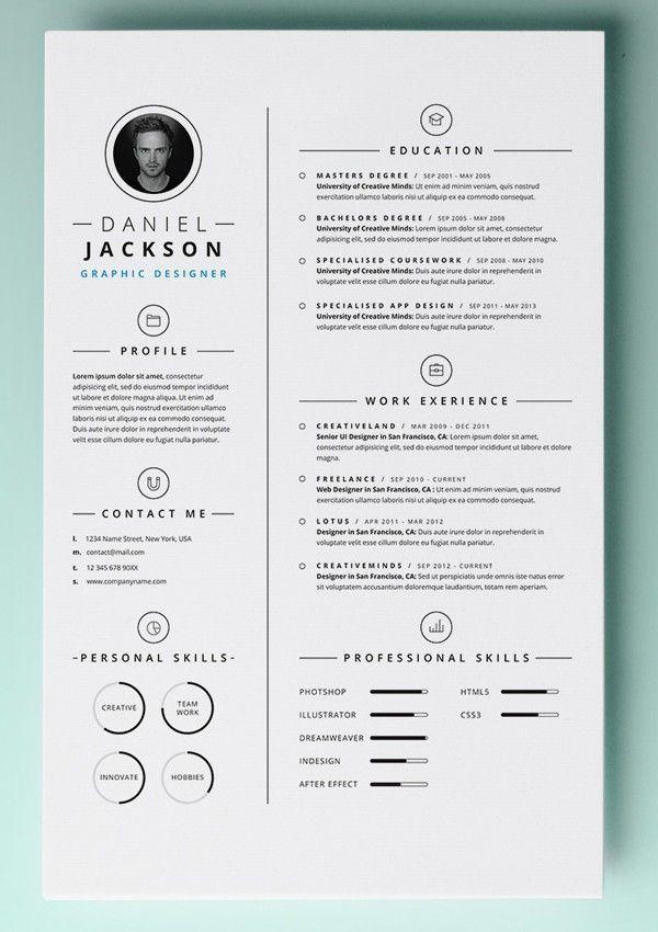 Awesome Download Template Cv Gratis Idea Di 2020 Kreatif Desain