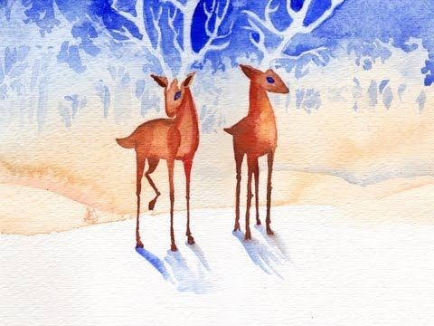 Deerwood - Original painting by Mary Doodles - YouTube