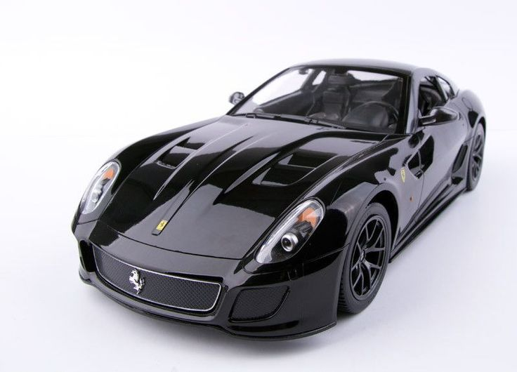 Ferrari 599 GTO Black - RASTARAdjustable Front Wheel AlignmentWorking Headlight and TaillightTrigger Type ControllerDetail Exterior & InteriorGlass Exterior PaintFunctions:-R/C scale: 1:14-Full functi