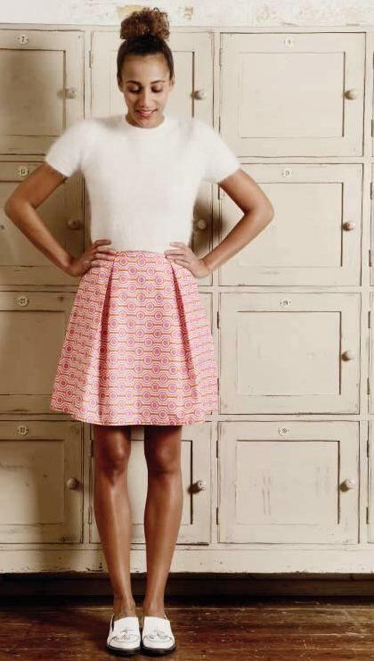 DIY Guide: Girllike skirt with pleats sew on DaWanda.com