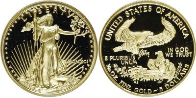 Most Valuable $5 Five Dollar American Eagle Gold Bullion Coin Values
