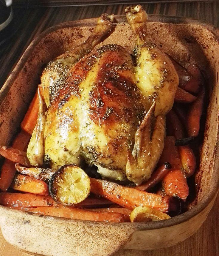 Ropogós egész csirke - 10 perc ráfordítással - Fekete púder