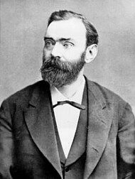 Alfred Bernhard Nobel  (21 October 1833 – 10 December 1896) was a Swedish chemist, engineer, innovator, and armaments manufacturer. He was the inventor of dynamite. Creator of the Nobel Peace Prize