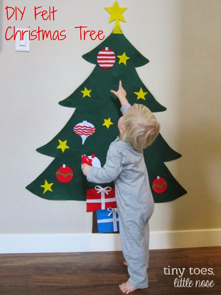 After seeing all of the adorable felt Christmas trees that were taking over Pinterest, I knew that Liam needed one! I looked at numerous s...