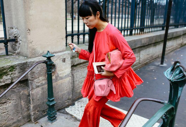 Susie Lau with a Loewe bag