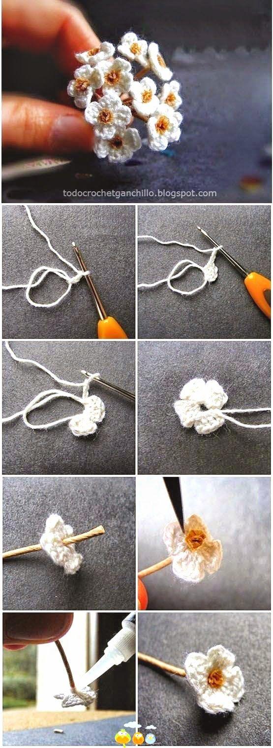 PAP fotos de flores crochet