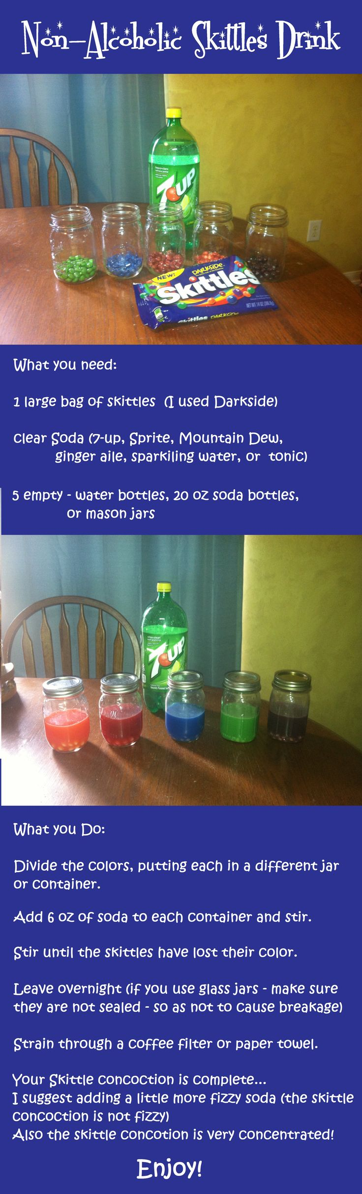 Make a Non-alcoholic Skittles Drink!