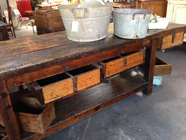 Old workbench, Nook Vintage, Melbourne
