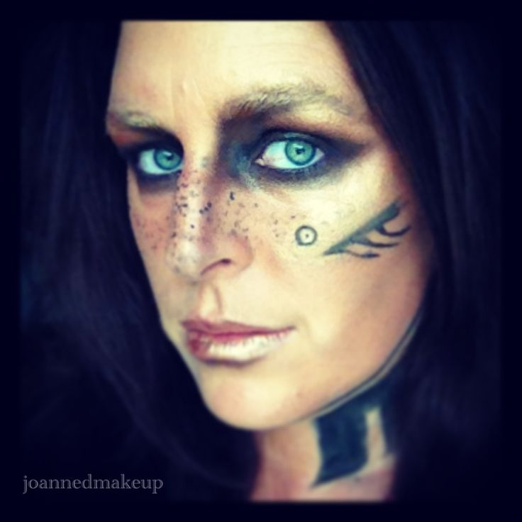 Viking inspired makeup