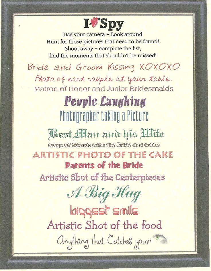 MY DIY I Spy - BridalTweet Wedding Forum & Community