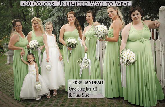 Sage Green Infinity Dress Bridesmaid Dress Prom Dress Twist Dress Convertible Dresses Cocktai Multi Way Dress Infinity Dress Bridesmaid Bridesmaid Dresses