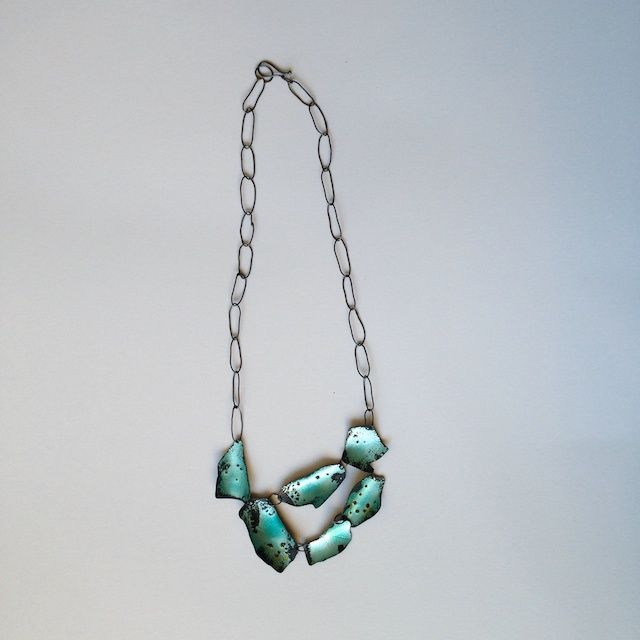 forging metal jewelry. blue water, necklace by irene weinz · forging metalmetal workmetal jewelrybeaded metal jewelry s