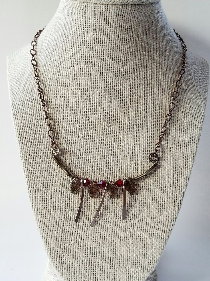 Brass bohemian necklace