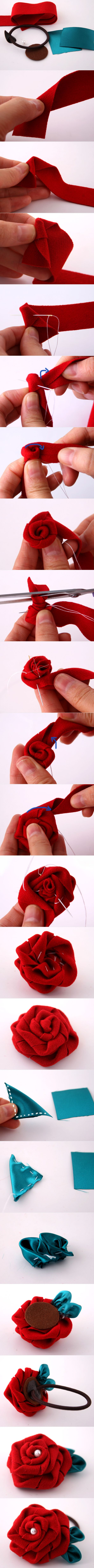 Full tutorial DIY handmade hair accessories hair ornaments homemade DIY do it yourself hair decorations - Taobao