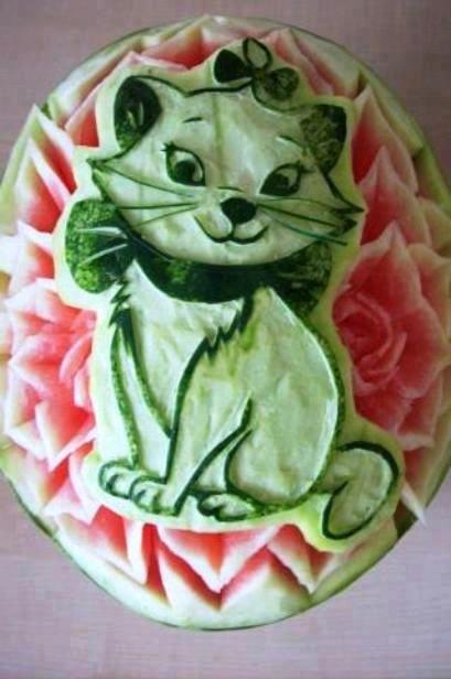 Amazing Art on Watermelon ♥