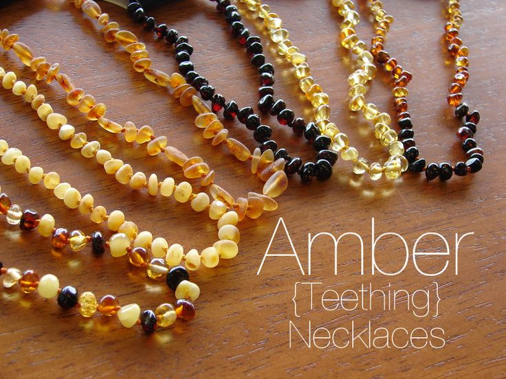 Why use amber teething necklaces? Because they work magic on a teething baby!