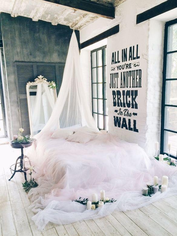 """Фотозона """"Высокая кровать с балдахином"""""""