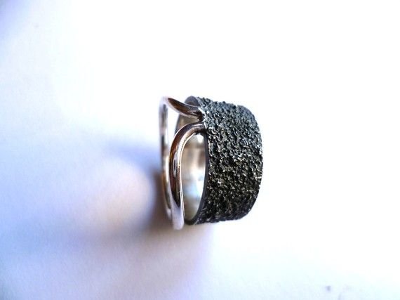 kharma silver wedding ring by kargasa on Etsy, $95.00