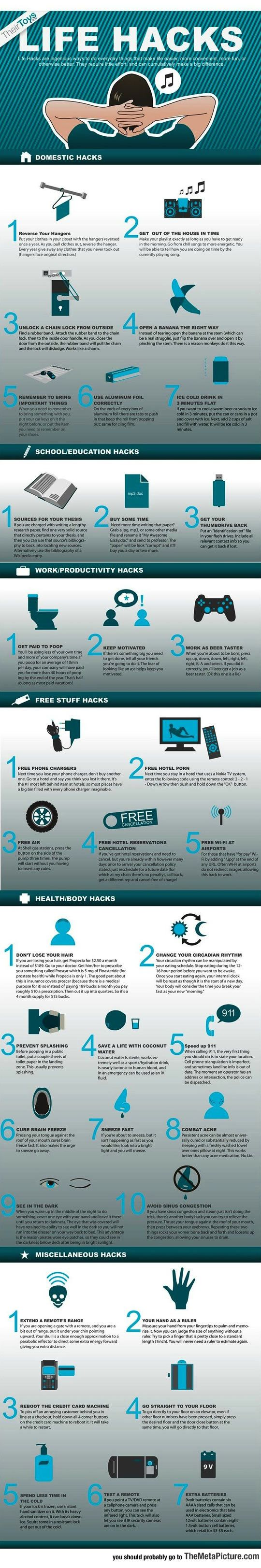 Cool Life Hacks You Should Probably Know