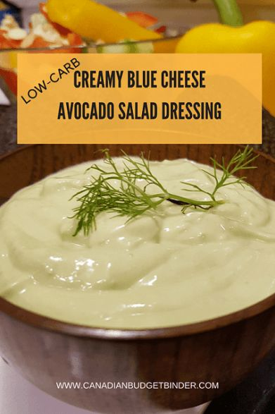 CREAMY BLUE CHEESEAVOCADO SALAD DRESSING PINYou know making homemade salad dressing isn't as hard as you may thing. In fact this Avocado Blue Cheese Salad Dressing can be used also as a dip, sauce or base for a soup. It's the perfect Party Dip that's nutritious, healthy and packed full of flavours.