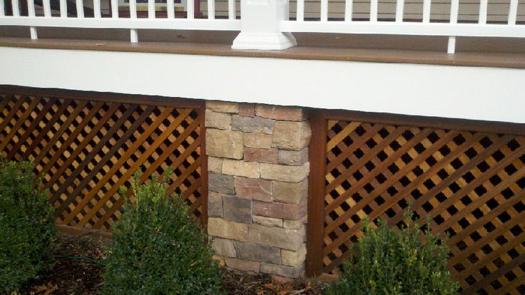 Stained Deck Skirting Gardening Amp Landscaping