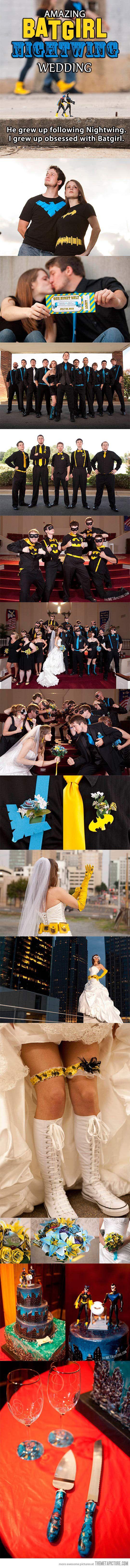 Batman themed wedding!!!! :D haha so cute:)
